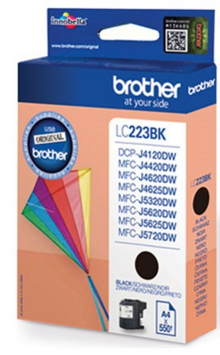 Brother LC223BK, TPA schwarz, 550s