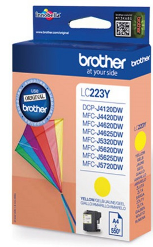 Brother LC223Y, Cartouche d'encre jaune, 550 pages