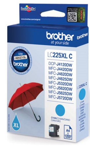 Brother LC225C, TPA cyan, 1'200s