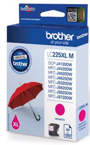 Brother LC225M, Cartouche d'encre magenta, 1'200 pages