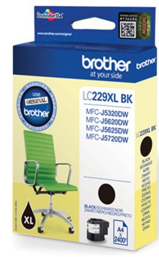 Brother LC229XLBK, TPA schwarz, 2'400s