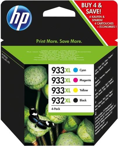 HP Nr. 932XL & 933XL Combo Pack, schwarz, cyan, magenta, yellow