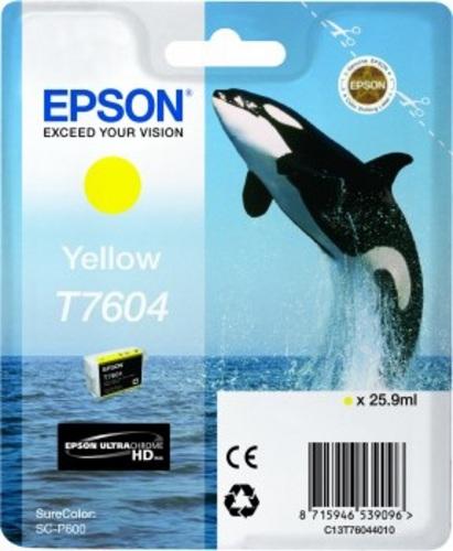 Epson T7604, Cartuccia di stampa giallo, 25.9ml