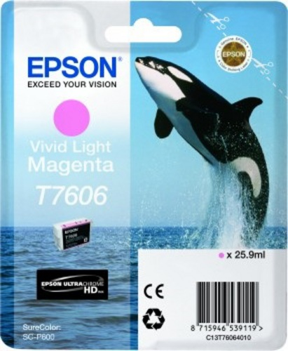 Epson T7606, TPA light magenta, 25.9ml
