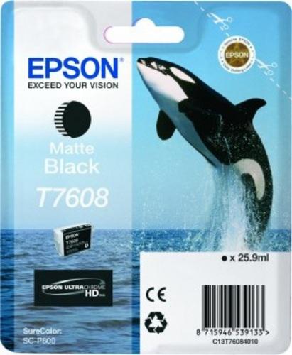 Epson T7608, Cartouche d'encre noir mat, 25.9ml