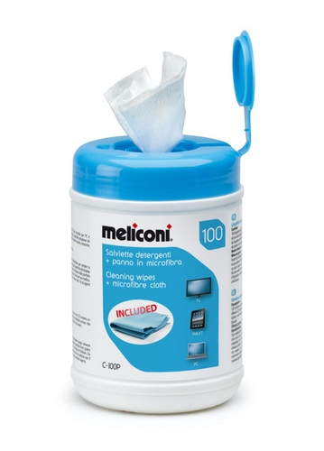 C100P 100 Cleaning Wipes + Microfibre Cloth