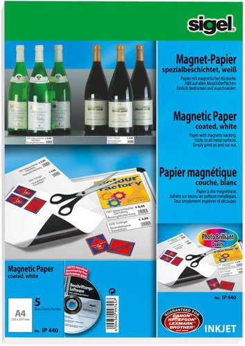 5 Magnet-Papier A4