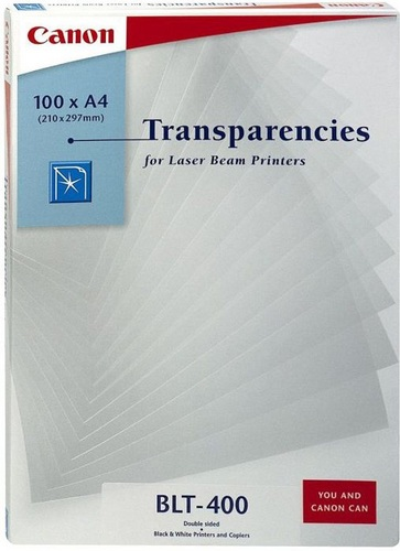 100 A4 LaserJet Folie, BLT-400, transparent