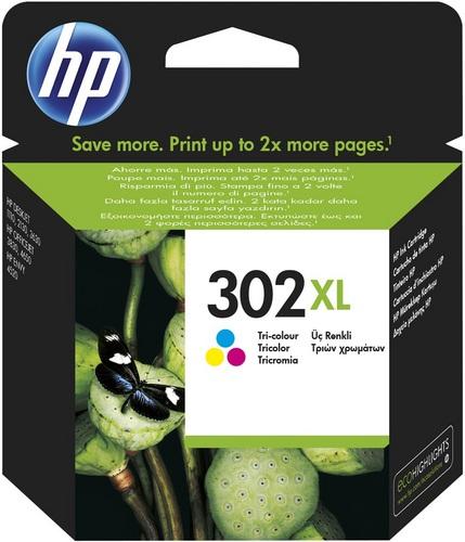 HP Nr. 302XL, Cartouche d'encre coloré, 330 pages