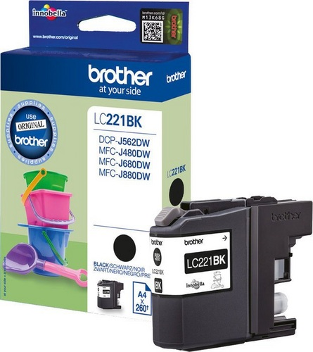 Brother LC221BK, TPA schwarz, 260s