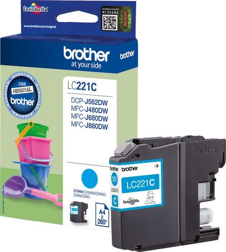 Brother LC221C, TPA schwarz, 260s