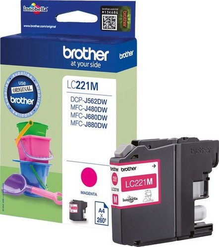 Brother LC221M, TPA magenta, 260s