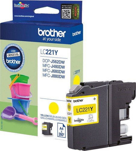Brother LC221Y, TPA schwarz, 260s
