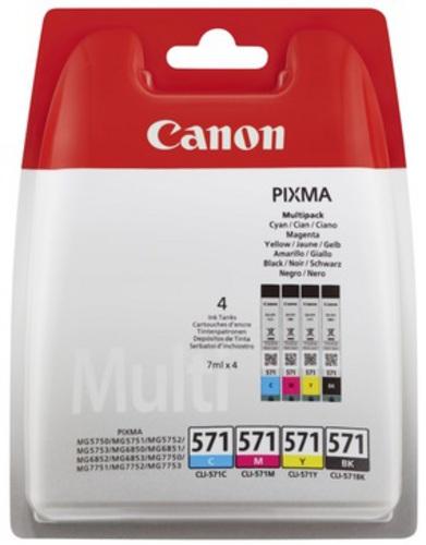 Canon CLI-571 Multipack, Cartouche d'encre noir, cyan, magenta, jaune