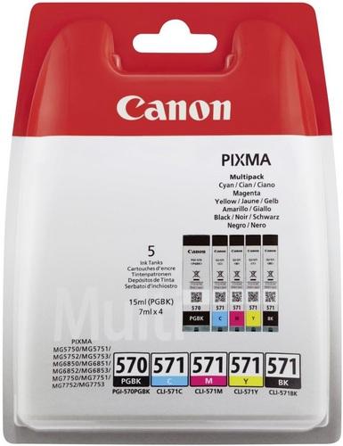 Canon PGI-570 / CLI-571 Multipack, Cartouche d'encre BK/PGBK/C/M/Y