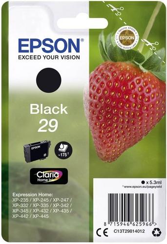 Epson 29, Cartouche d'encre noir, 175 pages, 5.3ml
