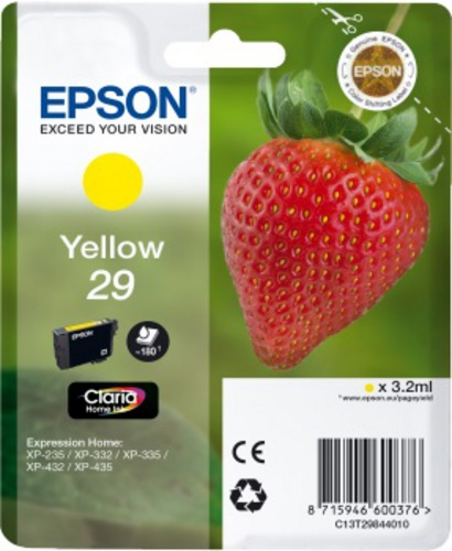 Epson 29, TPA yellow, 180s, 3.2ml