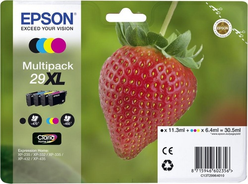 Epson 29XL Multipack, TPA schwarz, cyan, magenta & yellow, 450s, 30.5ml