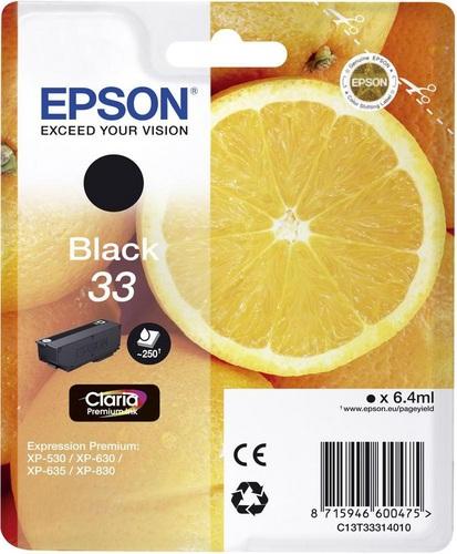 Epson 33, TPA schwarz, 250s, 6.4ml