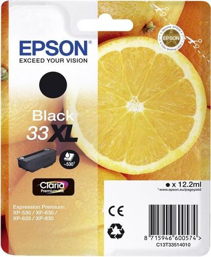 Epson 33XL, TPA schwarz, 530s, 12.2ml