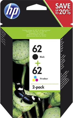 HP Nr. 62 Combo Pack, schwarz & farbig