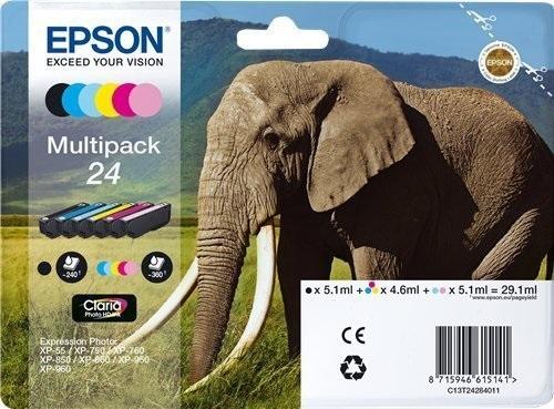 Epson 24 Multipack, TPA schwarz, cyan, magenta, yellow, l-cyan & l-magenta