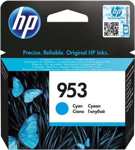 HP 953, Cartouche d'encre cyan, F6U12AE, 700 pages
