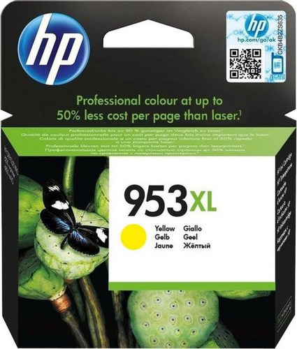 HP 953XL, Cartouche d'encre jaune, F6U18AE, 1'600 pages