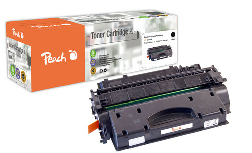 Peach Tonermodul schwarz kompatibel zu HP CE505X