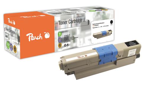 Peach Tonermodul schwarz kompatibel zu OKI 44469803