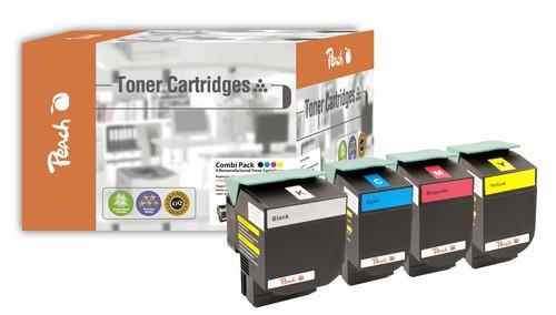 Peach Spar Pack Tonermodule kompatibel zu Lexmark C540H2, C54x, X54x