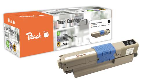 Peach Tonermodul schwarz kompatibel zu OKI 44973536