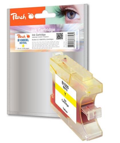 Peach cartouche d'encre jaune XL, compatible avec Brother LC-1000y, LC-970y