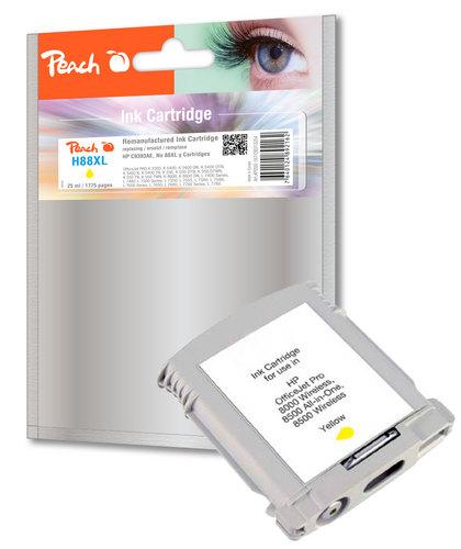 Peach Cartouche d'encre jaune compatible avec HP No. 88XL, C9393AE