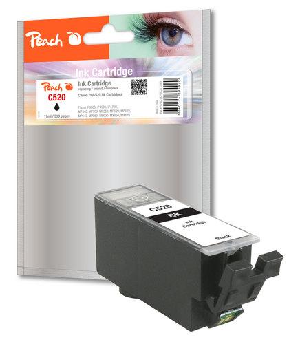Peach XL-Tintenpatrone schwarz kompatibel zu Canon PGI-520, PGI-520bk, 2932B001