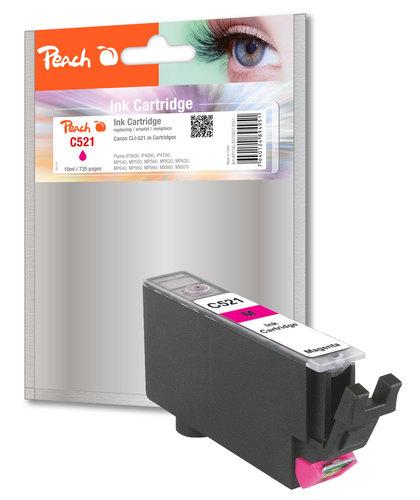 Peach XL-Tintenpatrone magenta kompatibel zu Canon CLI-521m, 2935B001
