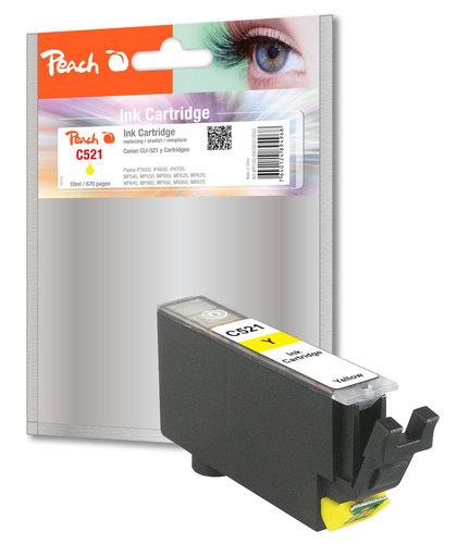 Peach cartouche d'encre jaune XL avec puce, compatible avec Canon CLI-521y
