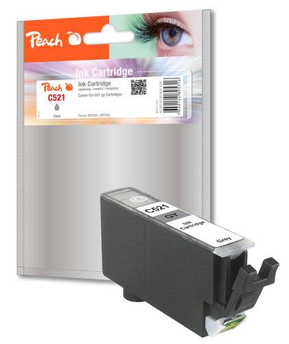 Peach Cartouche d'encre gris, compatible avec Canon CLI-521gy, 2937B001