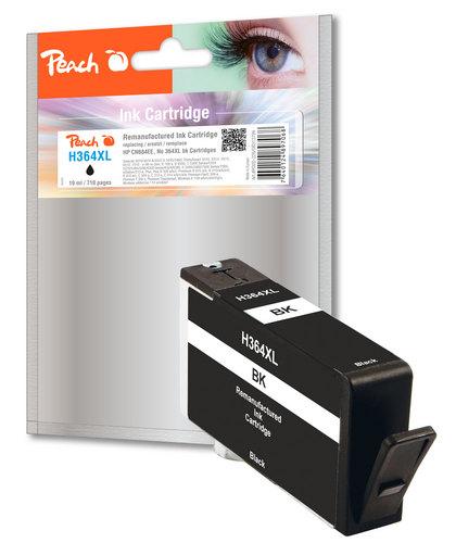 Peach Cartouche d'encre noire compatible avec HP No. 364XL, CN684EE