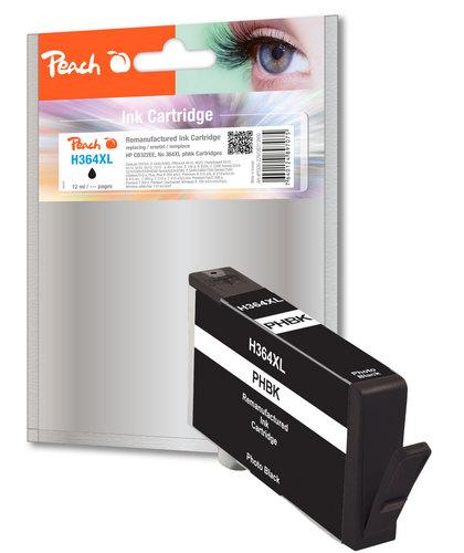 Peach Tintenpatrone foto schwarz kompatibel zu HP No. 364XL, CB322EE