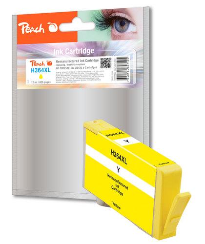 Peach Cartouche d'encre jaune compatible avec HP No. 364XL, CB325EE