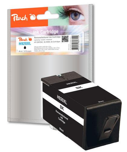 Peach Cartouche d'encre noire HC compatible avec HP No. 920XL, CD975AE