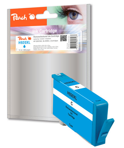 Peach Tintenpatrone cyan kompatibel zu HP No. 920XL, CD972AE