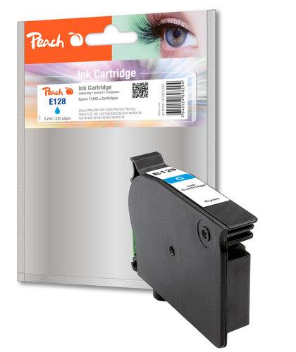 Peach Cartouche d'encre cyan, compatible avec Epson T128, T1282