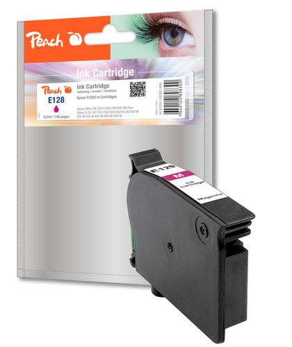 Peach Cartouche d'encre magenta, compatible avec Epson T128, T1283