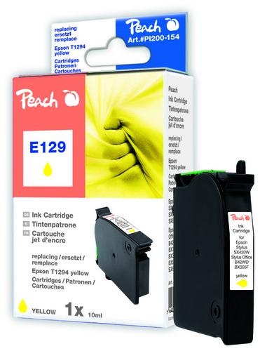 Peach Cartouche d'encre jaune, compatible avec Epson T129, T1294