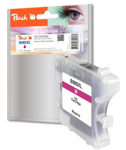 Peach Tintenpatrone magenta kompatibel zu Brother LC-985m