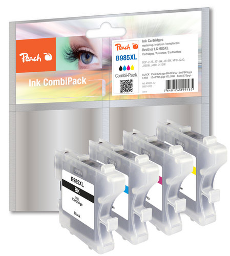 Peach Multipack, compatible avec Brother LC-985