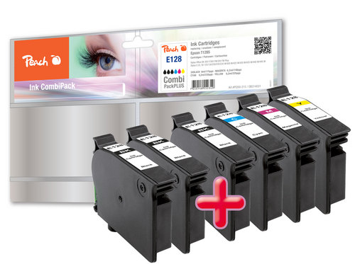 Peach Multipack Plus compatible avec Epson T128 (3xT1281, T1282, T1283, T1284)