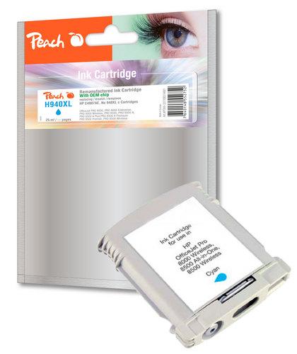 Peach Cartouche d'encre cyan compatible avec HP No. 940XL, C4907AE
